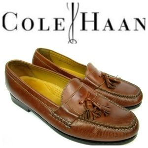 Cole Haan Grand Pinch Tassel Loafers Brown Sz 13M